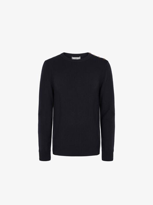 Pullover Di Cashmere Con Bottoni 4G - Givenchy