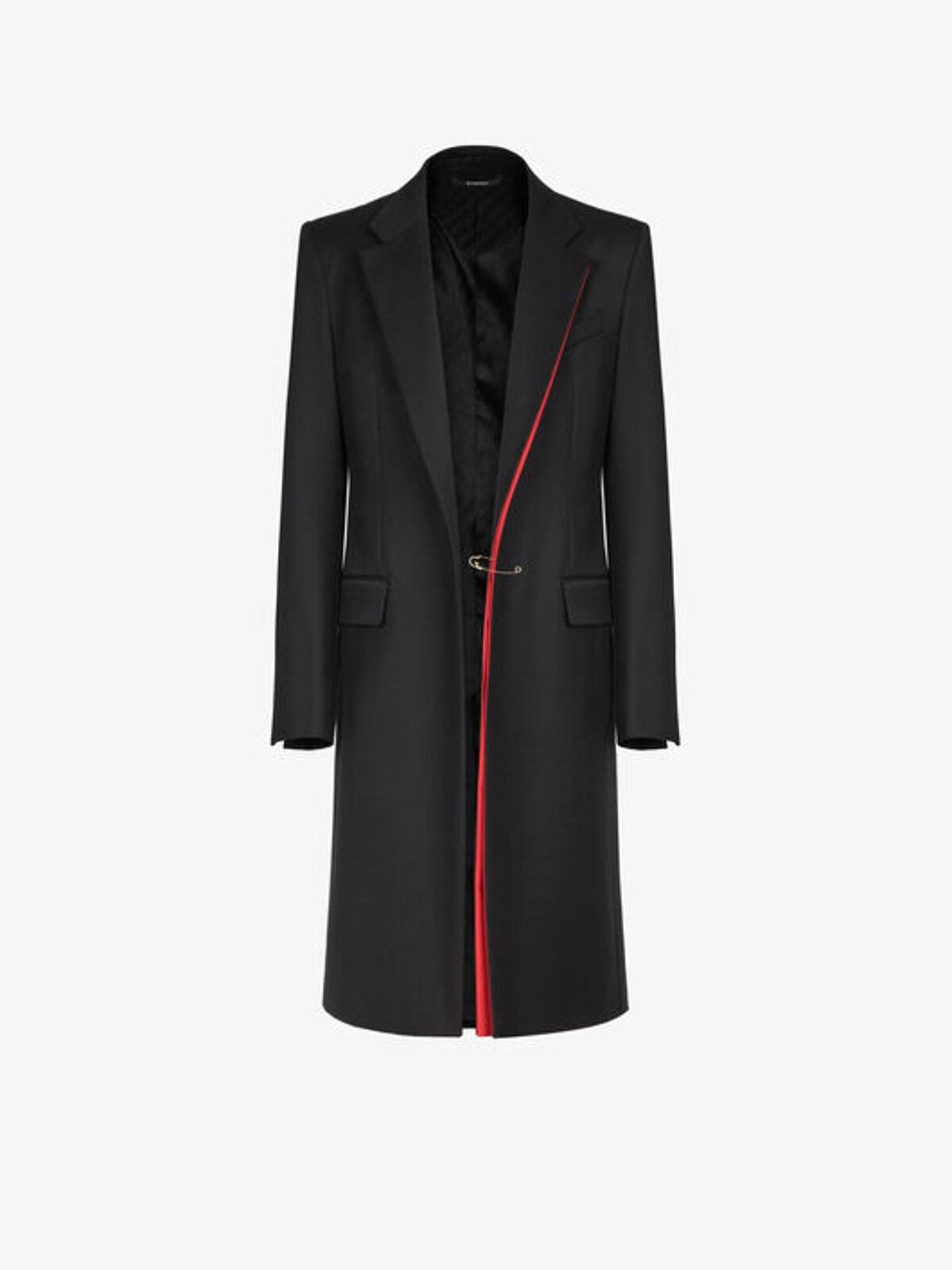 Wool coat with contrasting details - Givenchy