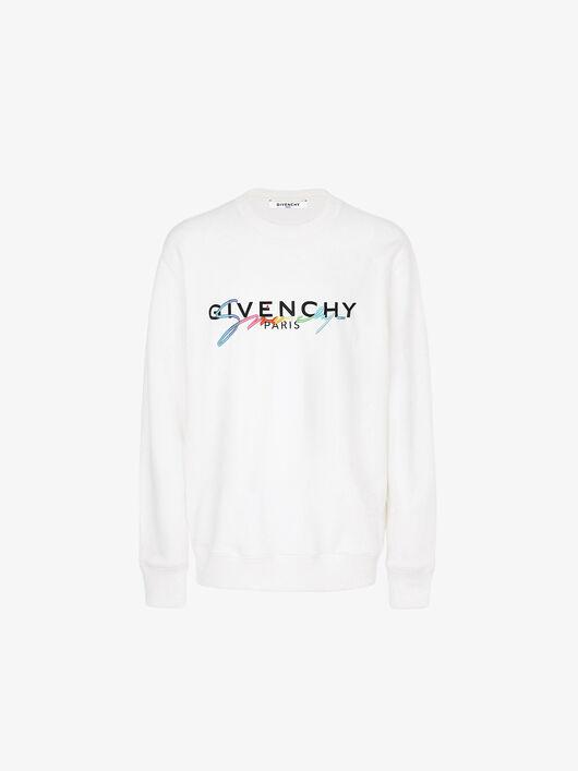 Felpa Con Firma Givenchy - Givenchy