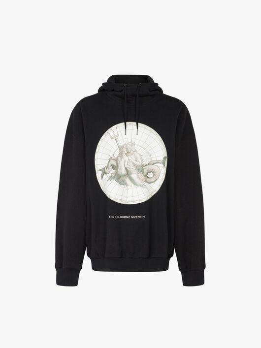 Felpa Oversize Con Stampa Poseidone - Givenchy