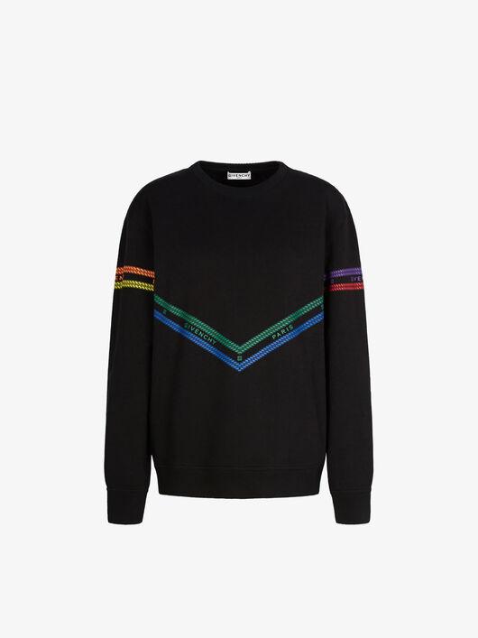 Felpa Con Stampa Givenchy Chaîne Multicolore - Givenchy
