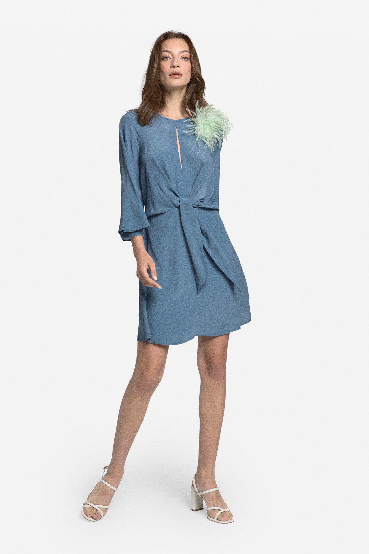 Fluid Mini Dress With Knot - ottod'Ame