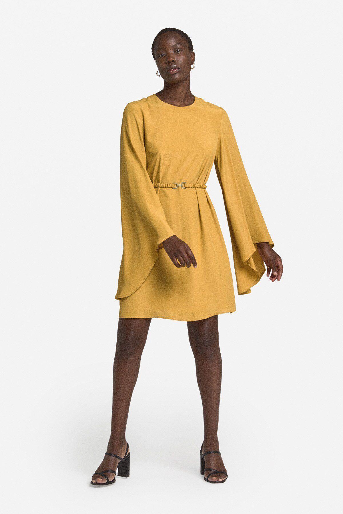 Fluid Mini Dress With Belt - ottod'Ame