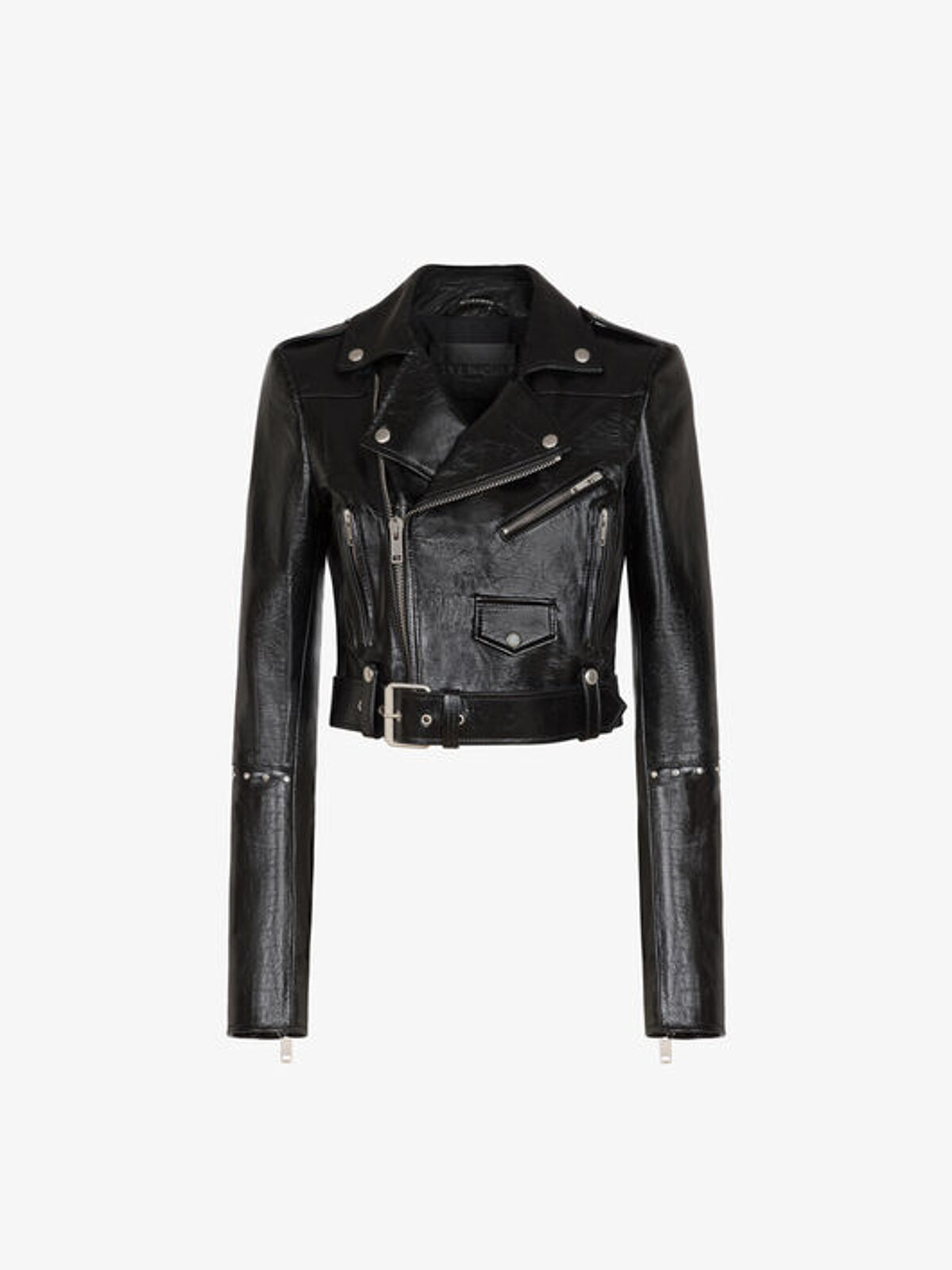 Biker Style Jacket With Studs - Givenchy