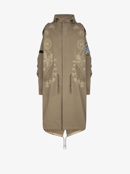 Parka Oversize Con Applicazioni Floreali - Givenchy