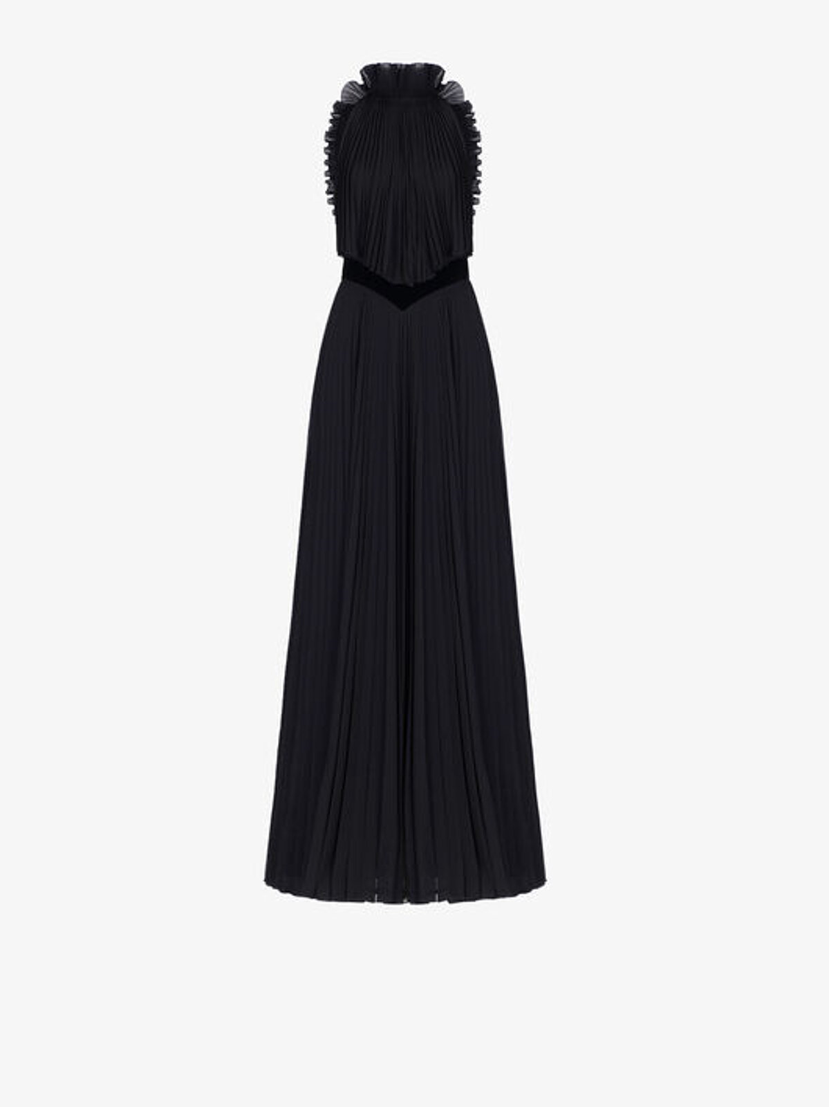 Pleated Evening Dress With Ruffles - Givenchy