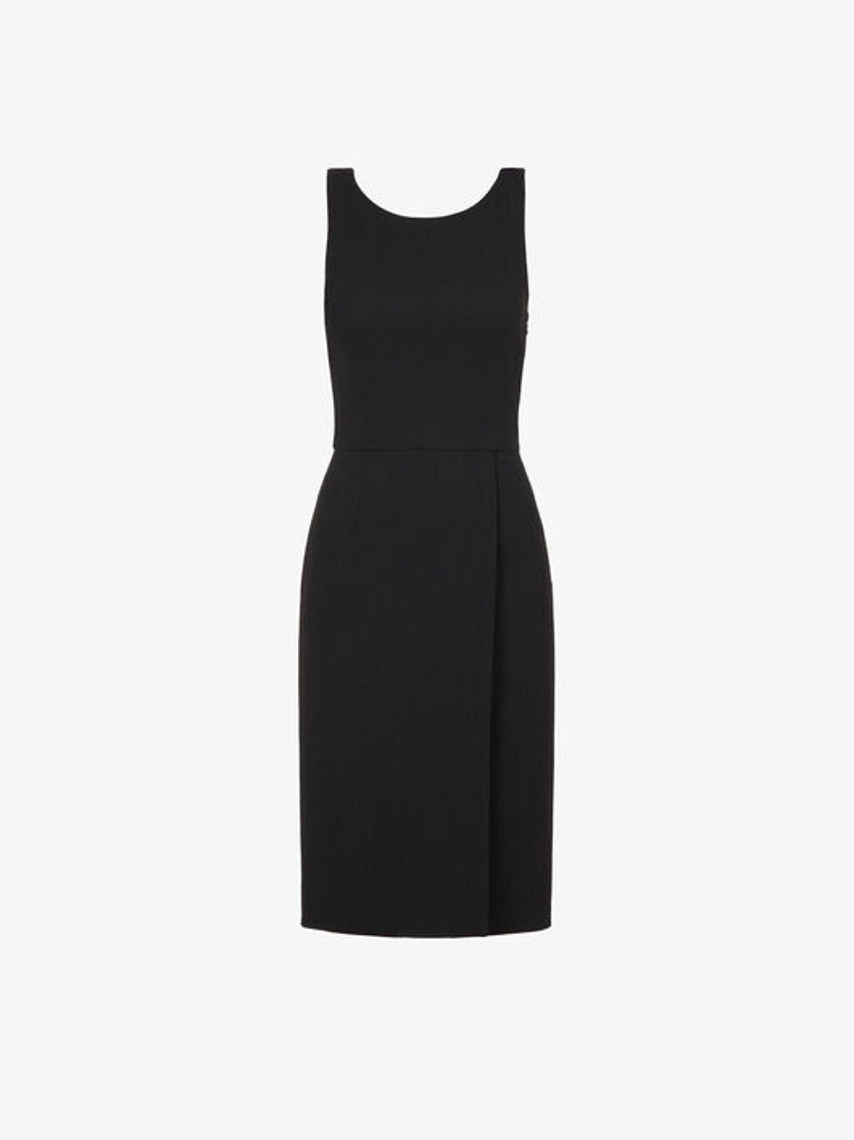 Short Dress In Wool Crêpe With Graphic Neckline - Givenchy
