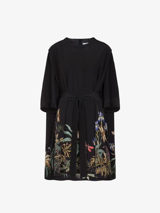 Abito T-Shirt Floreale Con Cintura - Givenchy