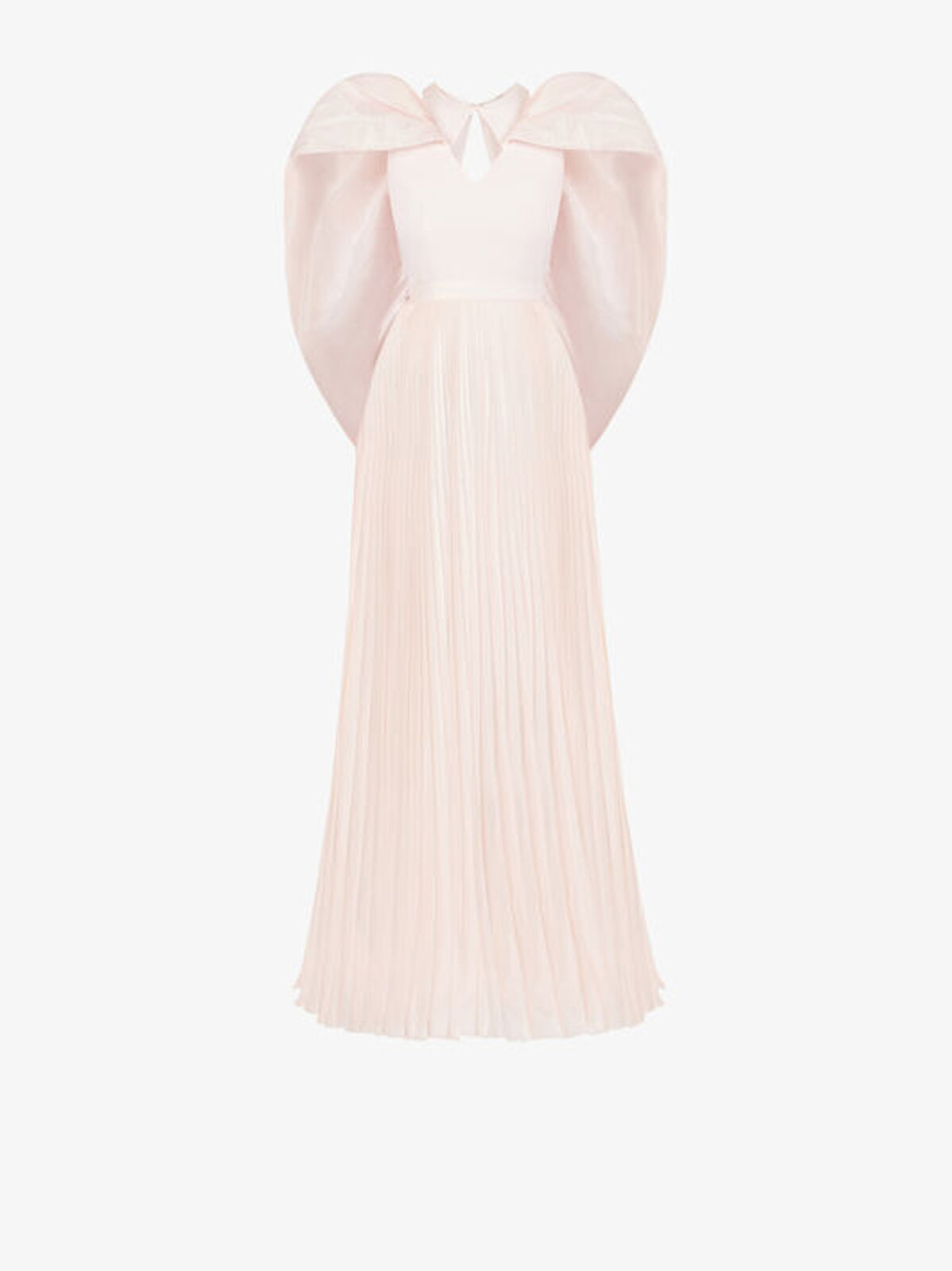 Pleated Evening Dress With Cape - Givenchy