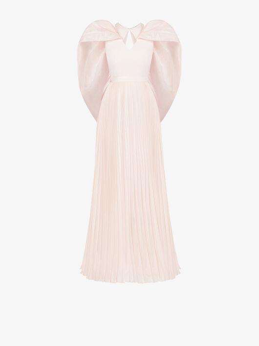 Abito Da Sera Plissé Con Mantella - Givenchy