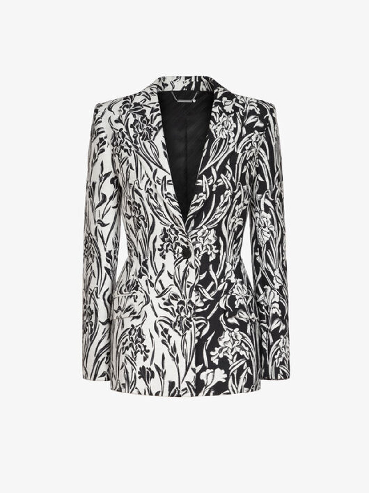 Giacca In Jacquard Floreale Bicolore - Givenchy