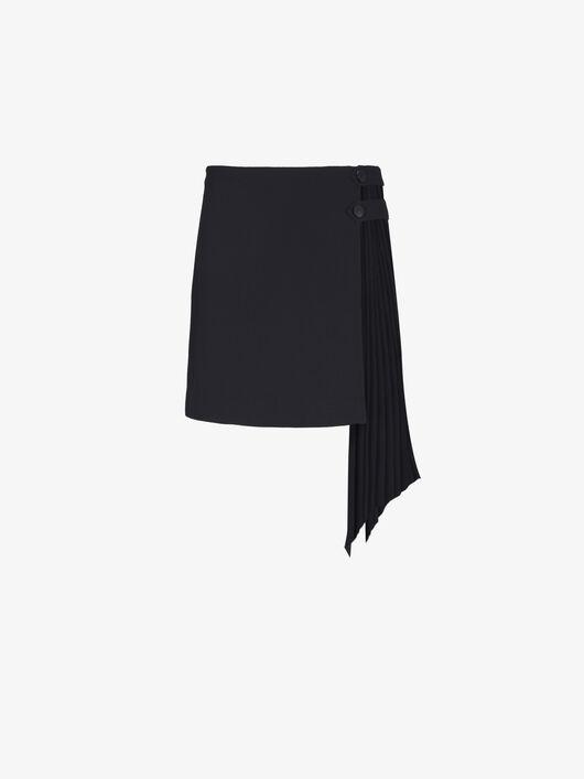 Minigonna Con Godet Plissé - Givenchy