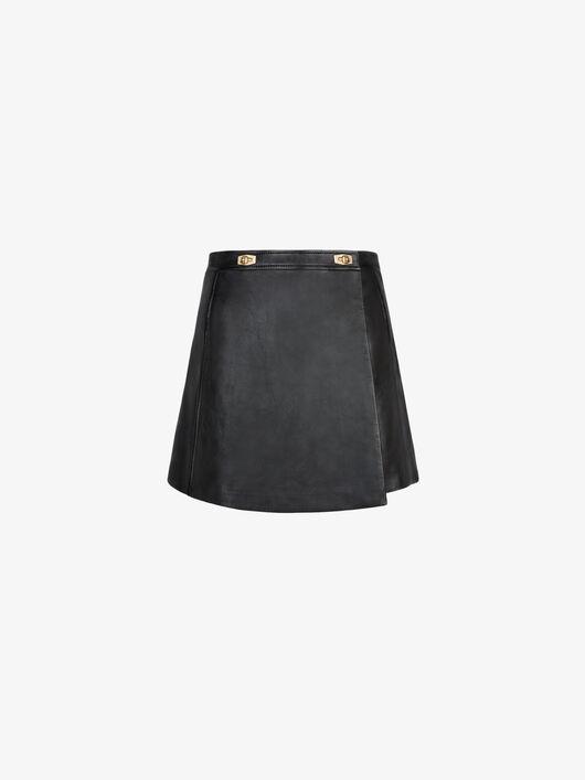 Minigonna Portafoglio Di Pelle - Givenchy