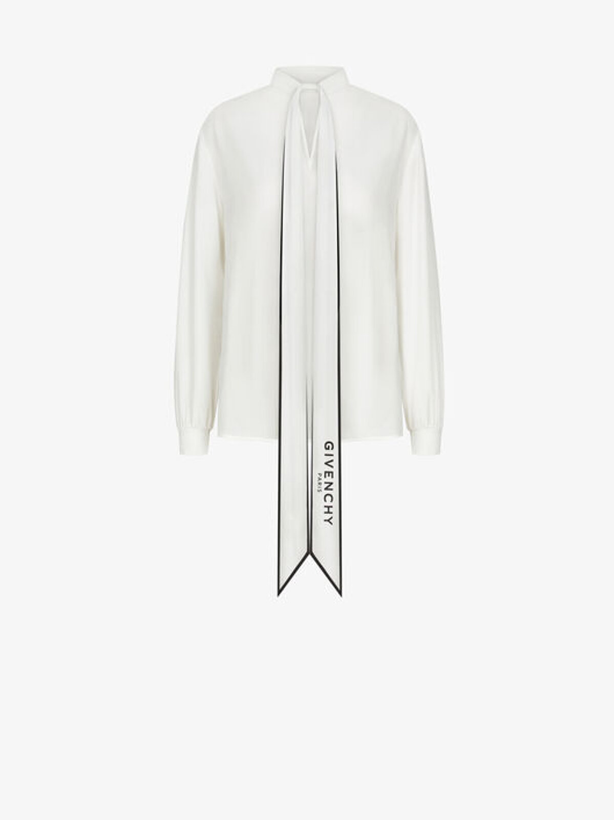 Silk Blouse With Scarf Collar - Givenchy