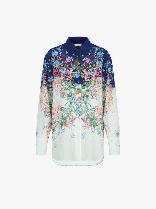 Camicia Di Seta Con Stampa Floreale - Givenchy