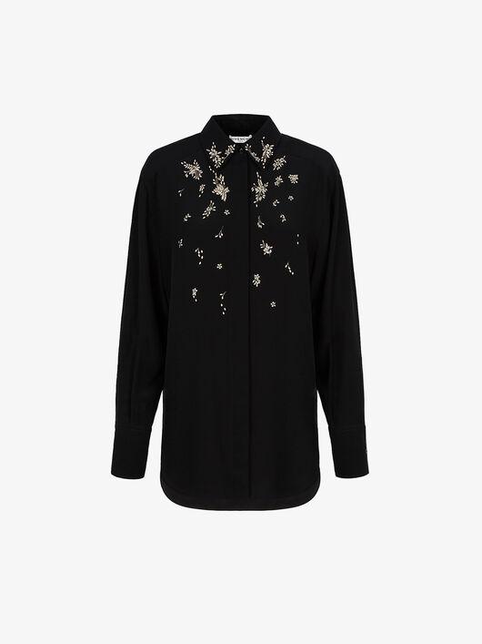 Camicia Di Seta Con Cristalli - Givenchy