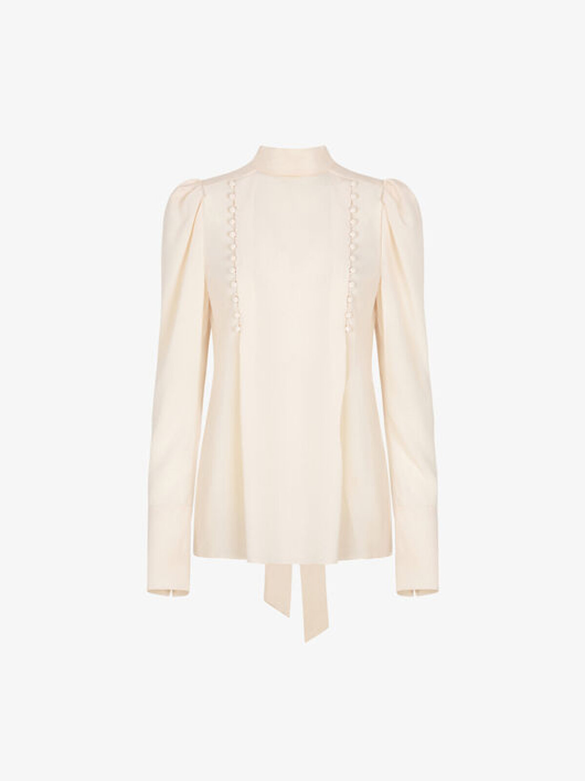 Blusa Di Seta Con Bottoni Decorativi - Givenchy