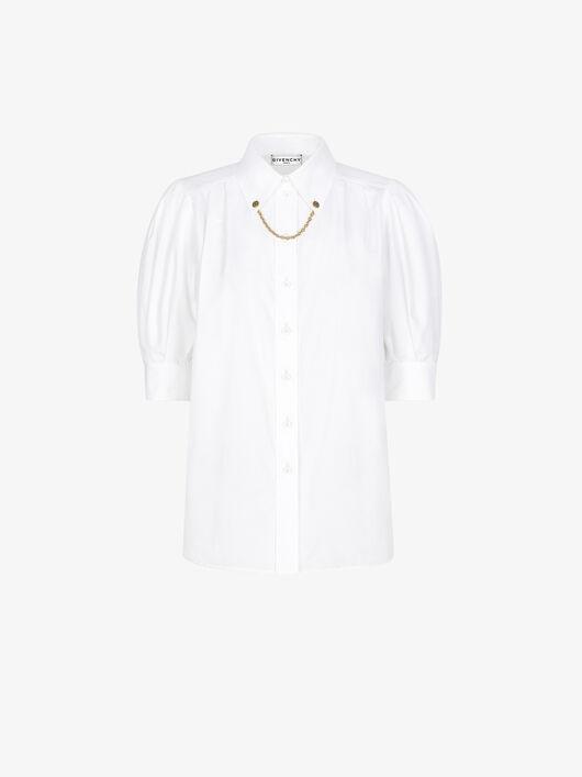 Camicia Di Cotone Con Catena Sul Collo - Givenchy