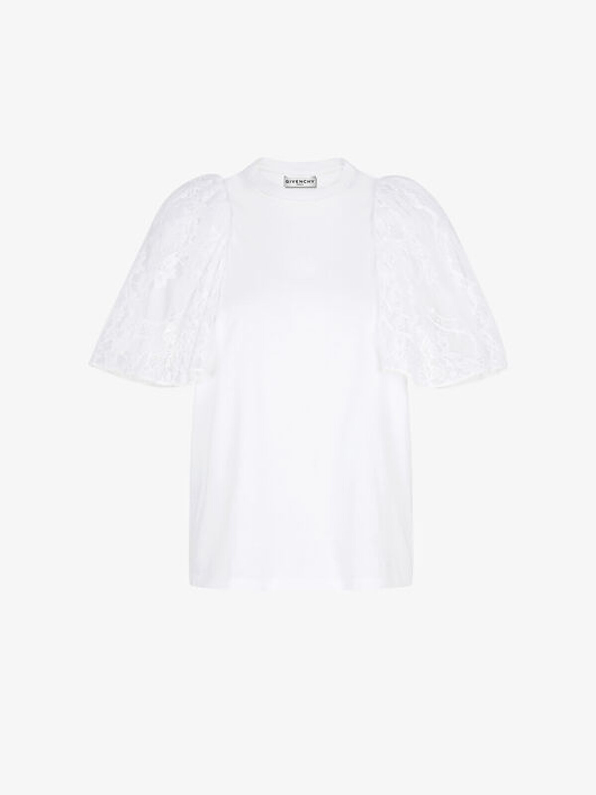 T-Shirt Con Maniche In Pizzo - Givenchy