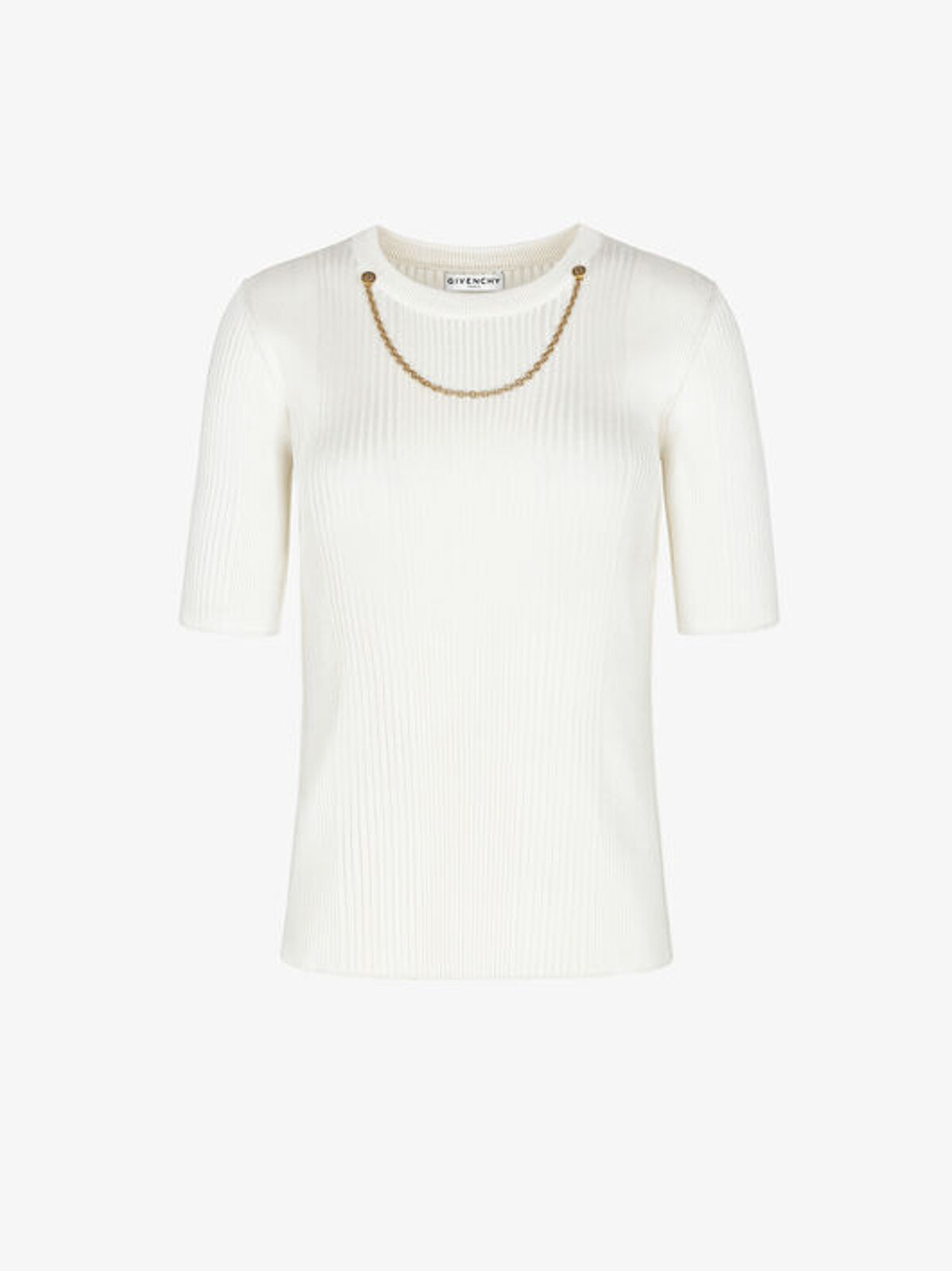 Viscose Pullover With Chain - Givenchy