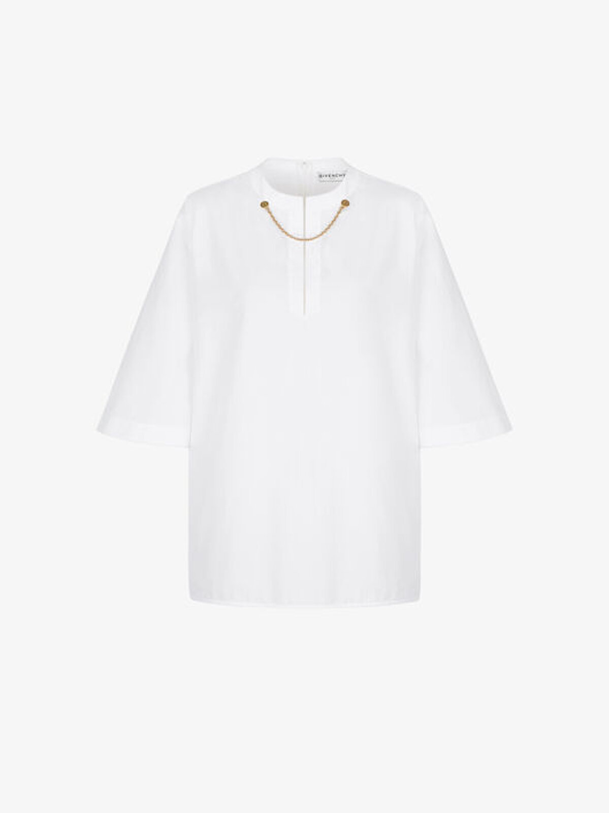 Cotton Blouse With Chain On The Neck - Givenchy
