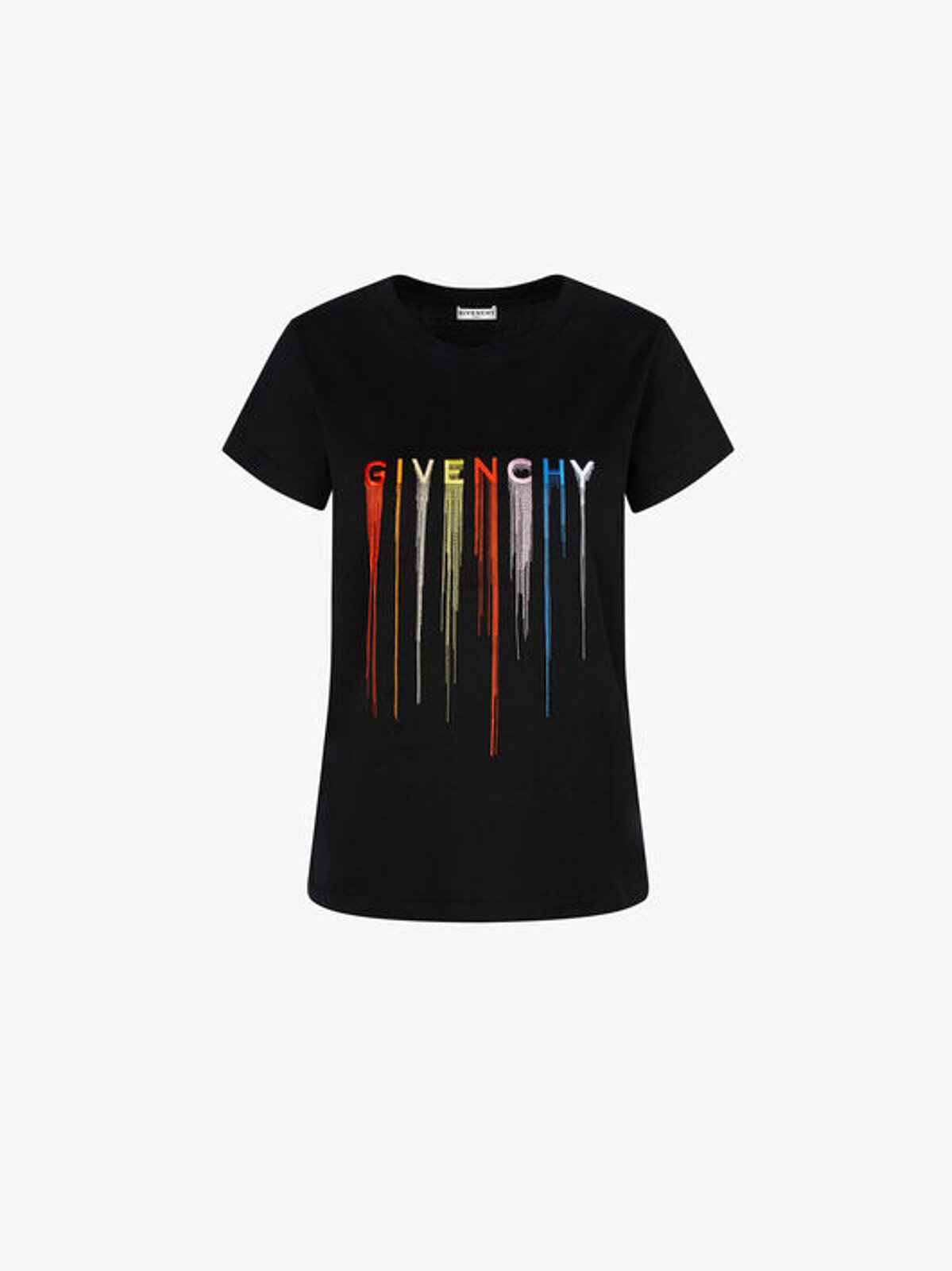 T-Shirt Slim Fit Con Ricamo Multicolore Givenchy - Givenchy