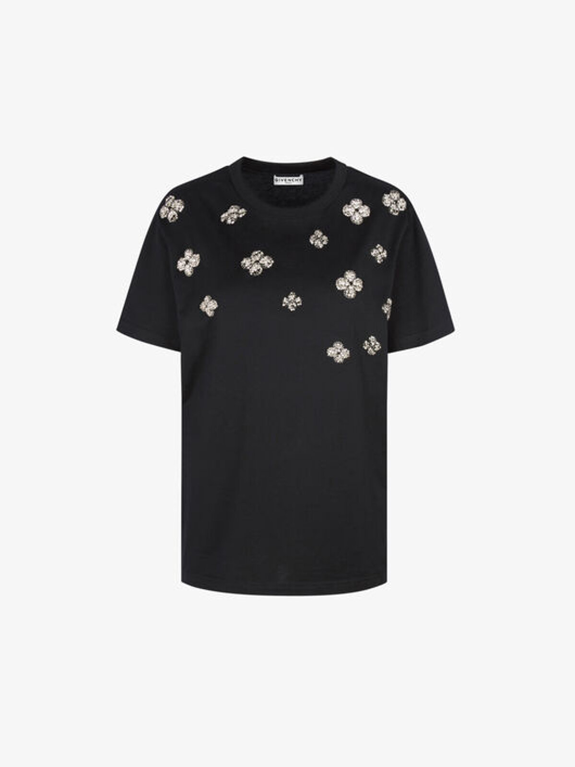 T-Shirt Givenchy Con Cristalli - Givenchy