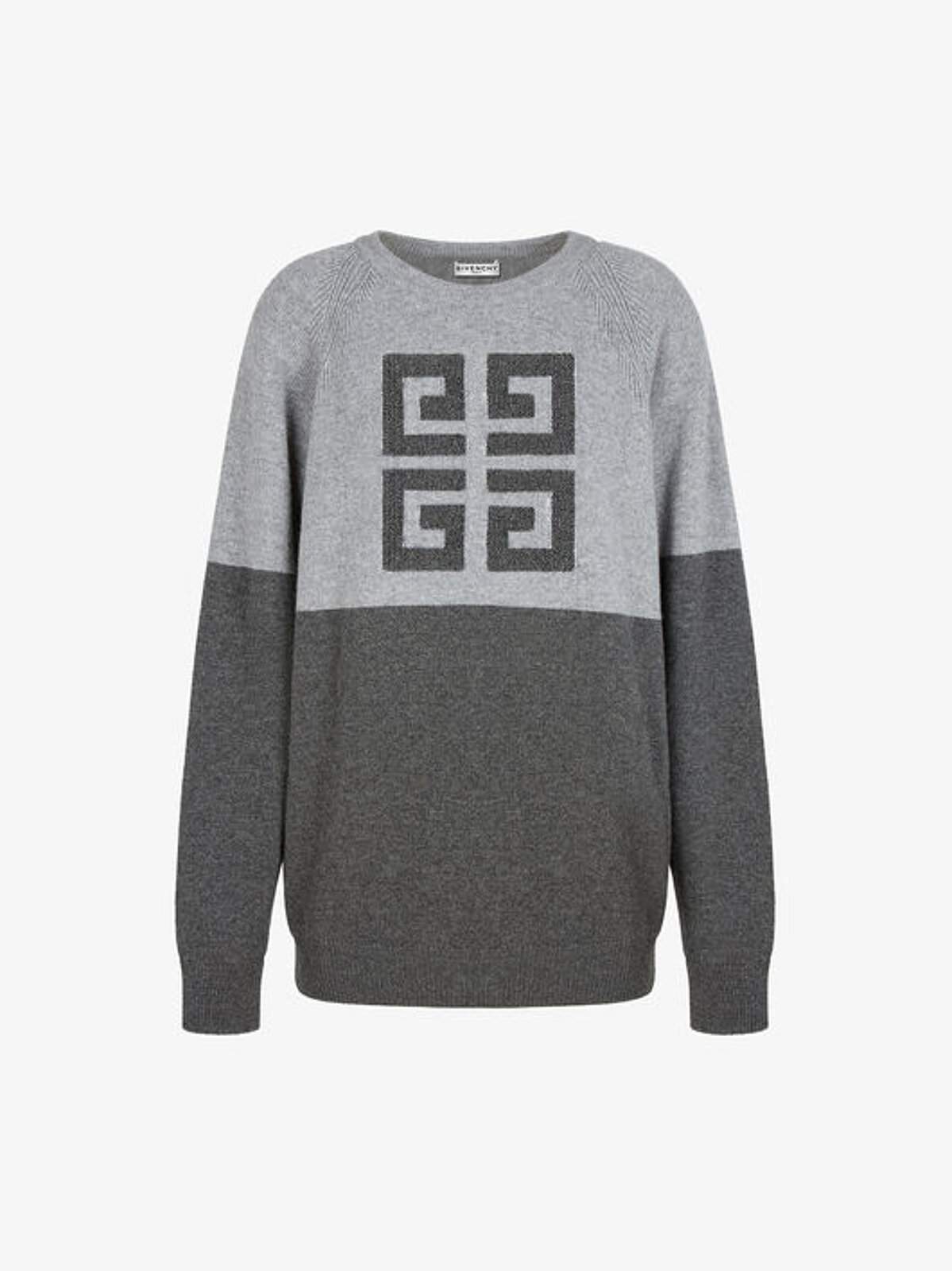 Two-tone Cashmere Pullover With 4G Logo - Givenchy