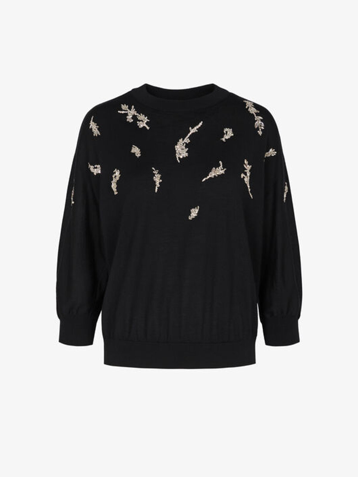 Wool And Silk Pullover With Crystals - Givenchy