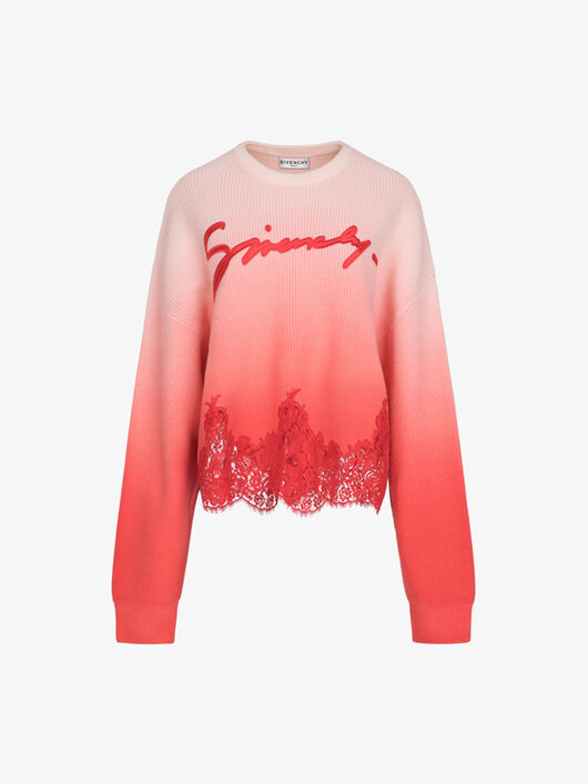 Givenchy Knitted Pullover With Lace - Givenchy