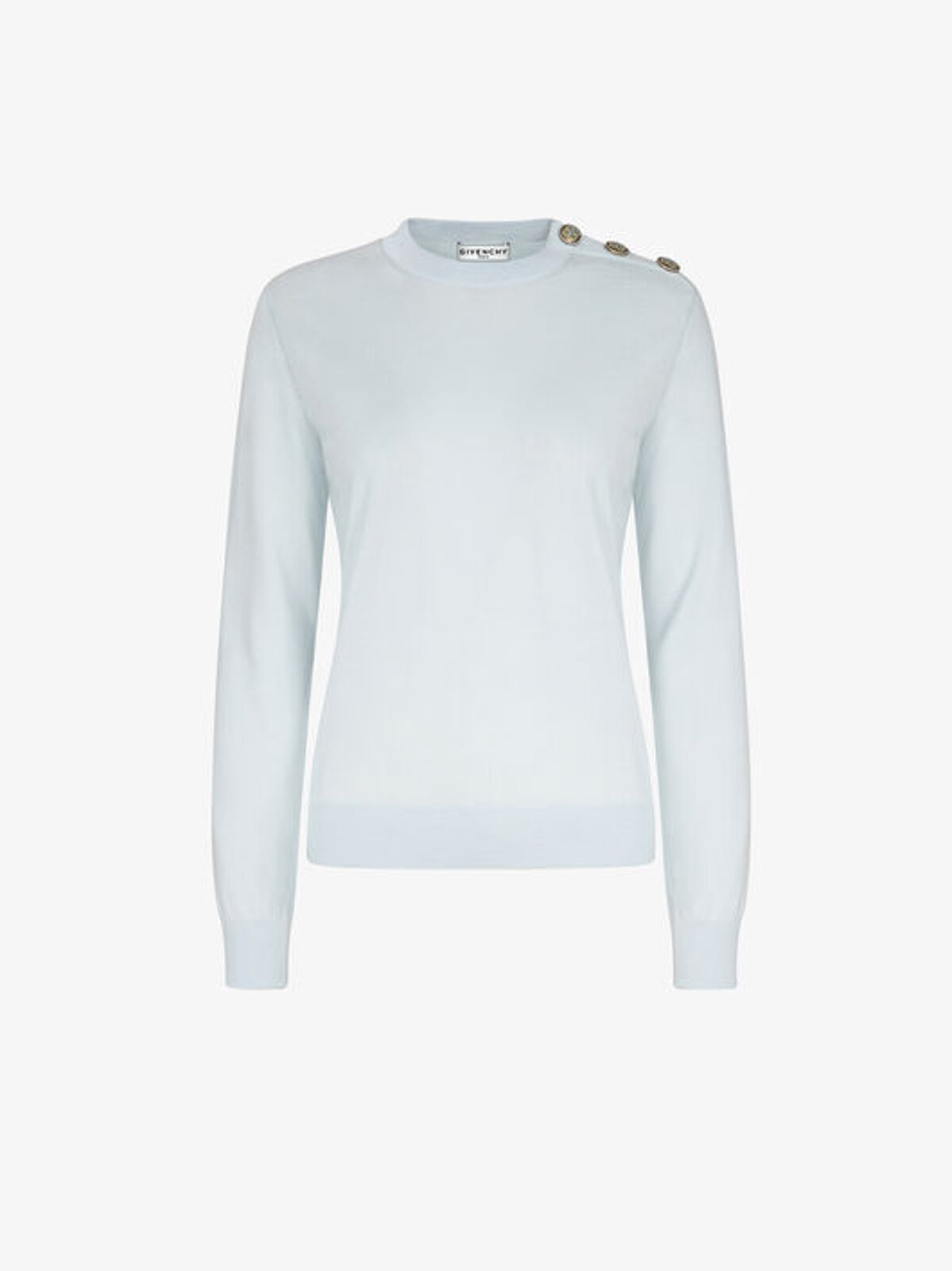 Wool Pullover With Floral Buttons - Givenchy