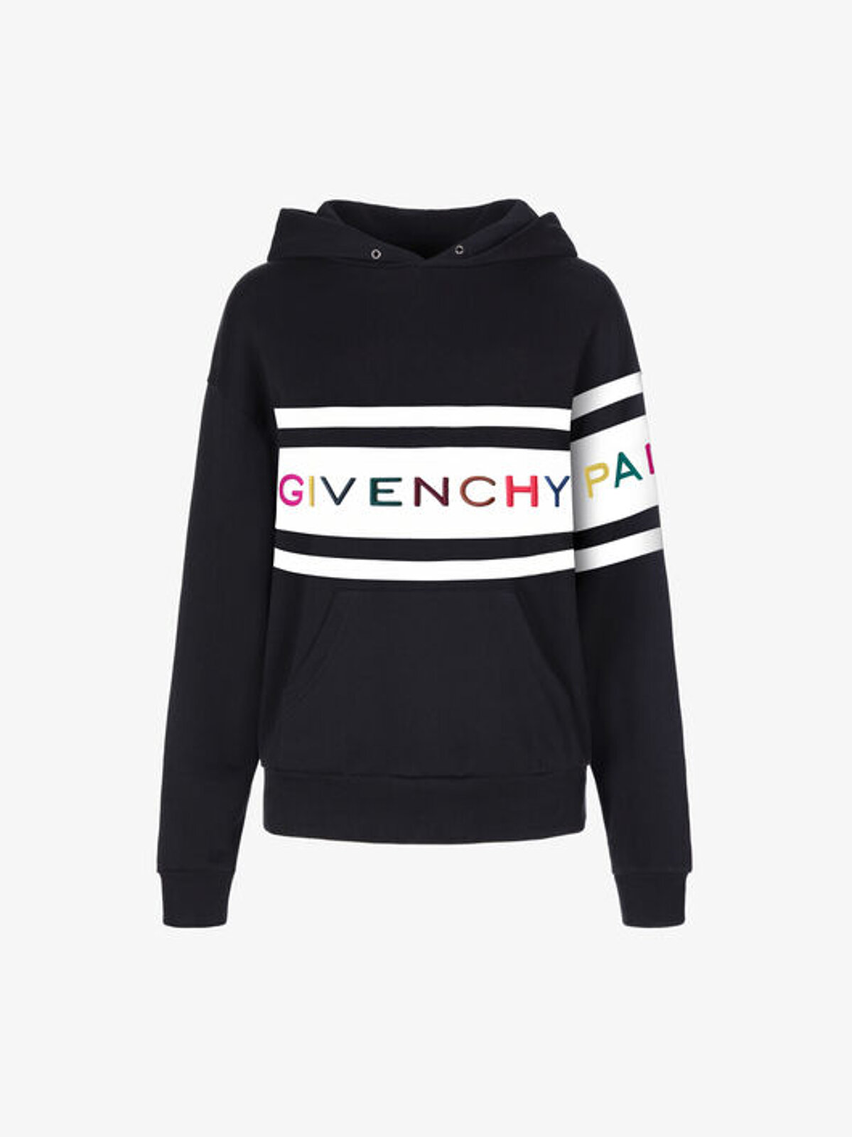 Hooded Sweatshirt With Givenchy Paris Embroidery - Givenchy