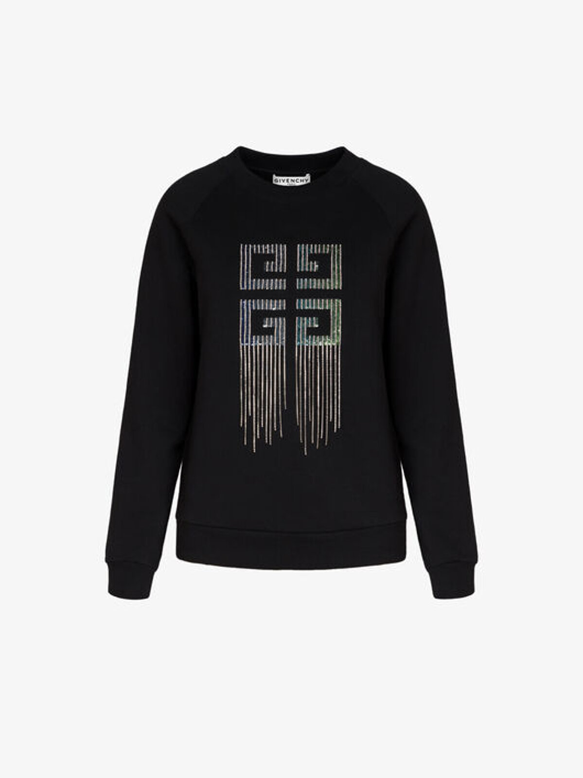 Sweatshirt With Crystals And Sequins 4G - Givenchy
