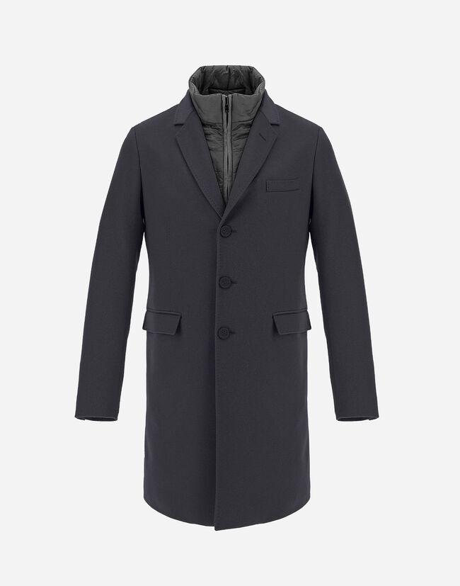 Cappotto In Cashmere Con Pettorina In Nylon Ultralight - Herno