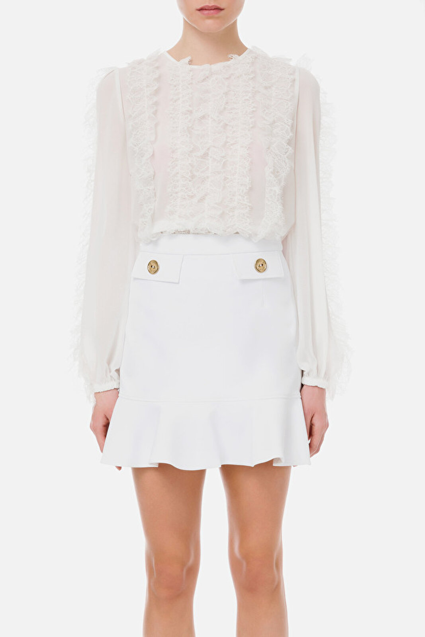 Georgette And Lace Shirt - Elisabetta Franchi
