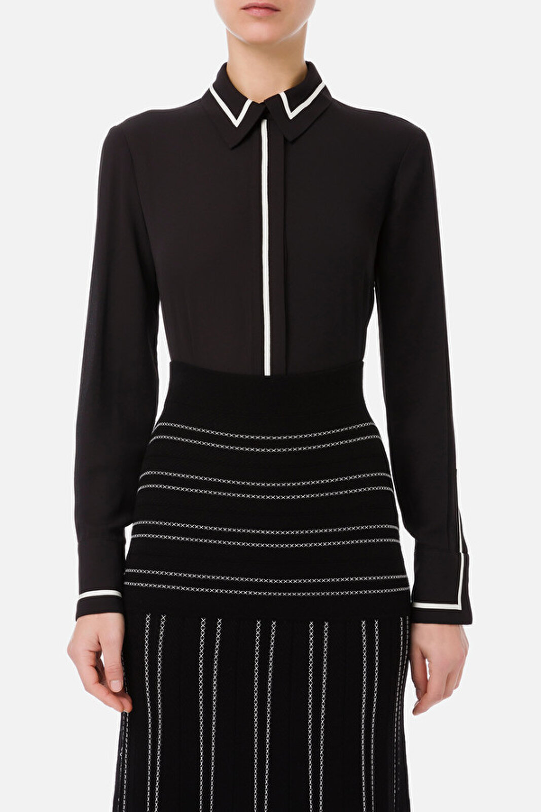 Shirt With Contrast Piping - Elisabetta Franchi