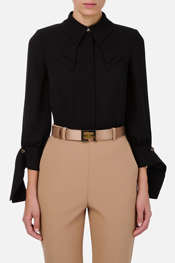 Camicia Con Polsi Foulard - Elisabetta Franchi