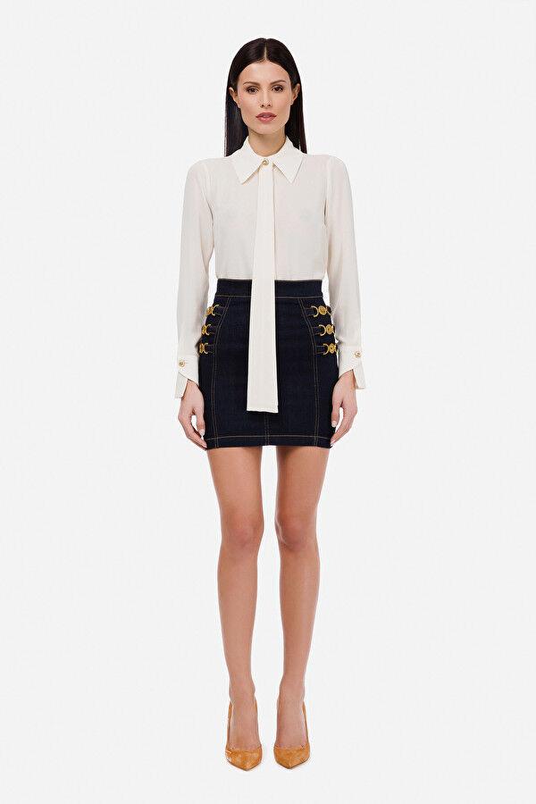 Camicia Con Cravatta Volant - Elisabetta Franchi