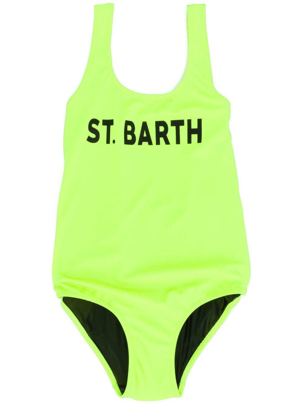 Costume Intero Giallo Fluo Stampa St. Barth - MC2 Saint Barth Junior