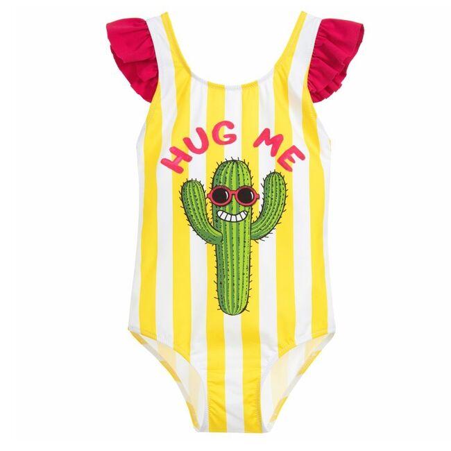 Costume Da Bimba Intero Stampa Cactus - MC2 Saint Barth Junior