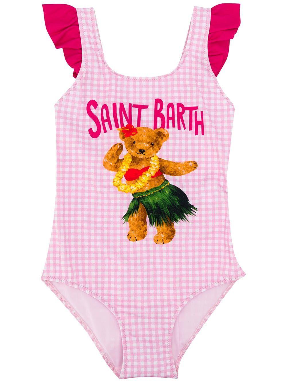 Costume Intero Da Bambina Stampa Orsetto Hawaiano - MC2 Saint Barth Junior