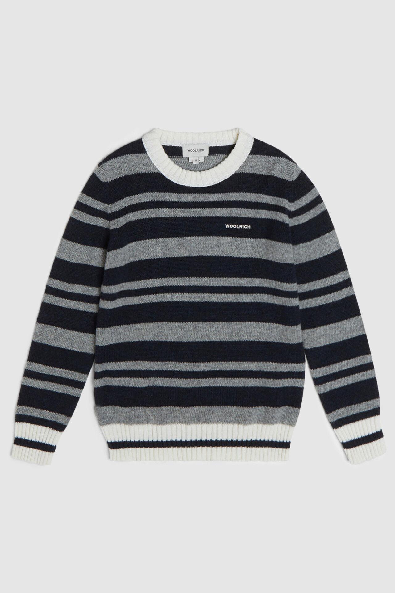 Striped Crewneck Sweater - Woolrich Junior