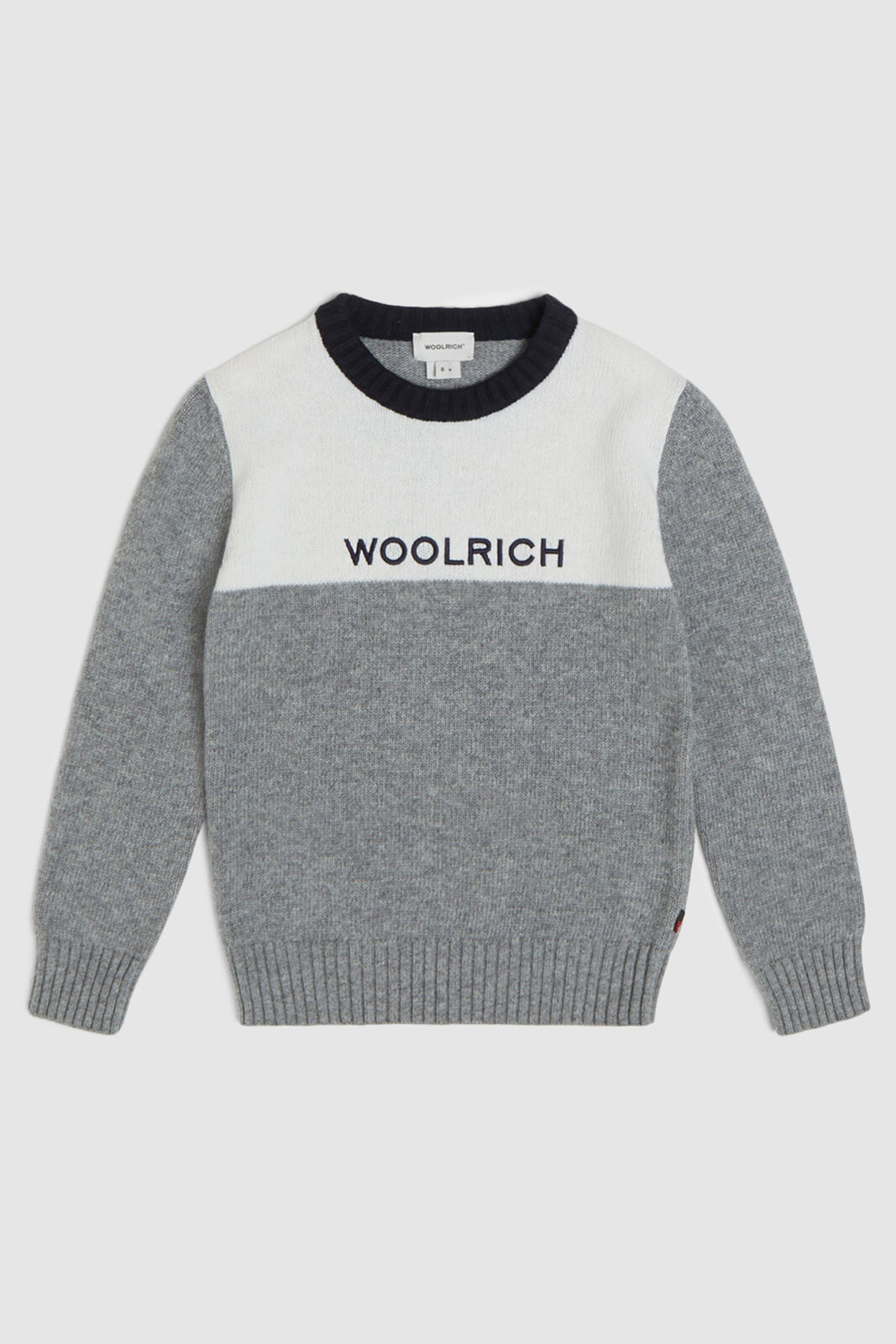 Maglia Girocollo Color Block - Woolrich Junior