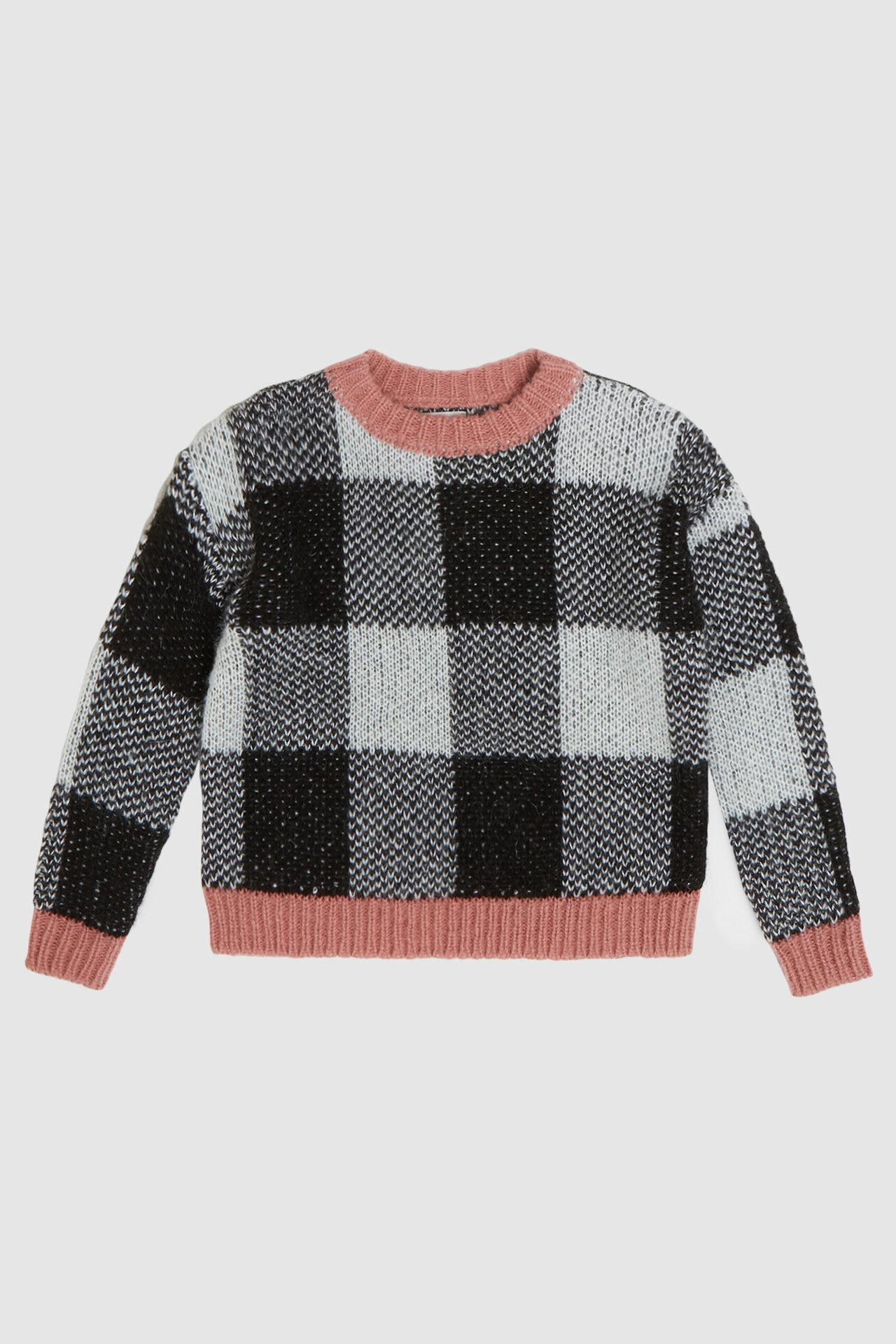 Checked Crewneck Sweater - Woolrich Junior
