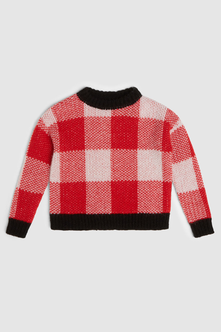 Maglia Girocollo A Quadri - Woolrich Junior