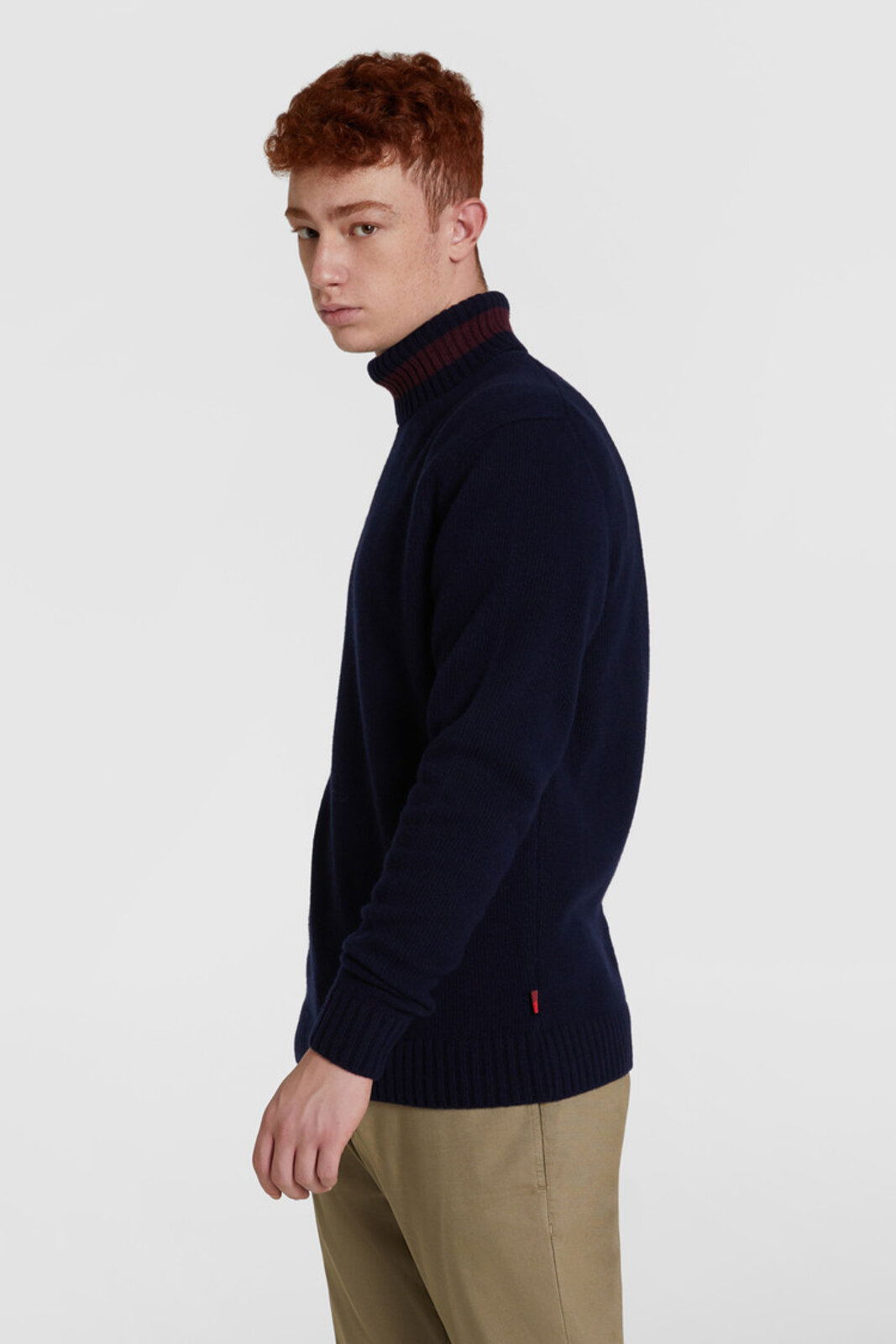 Color Block Crewneck Wool Sweater - Woolrich