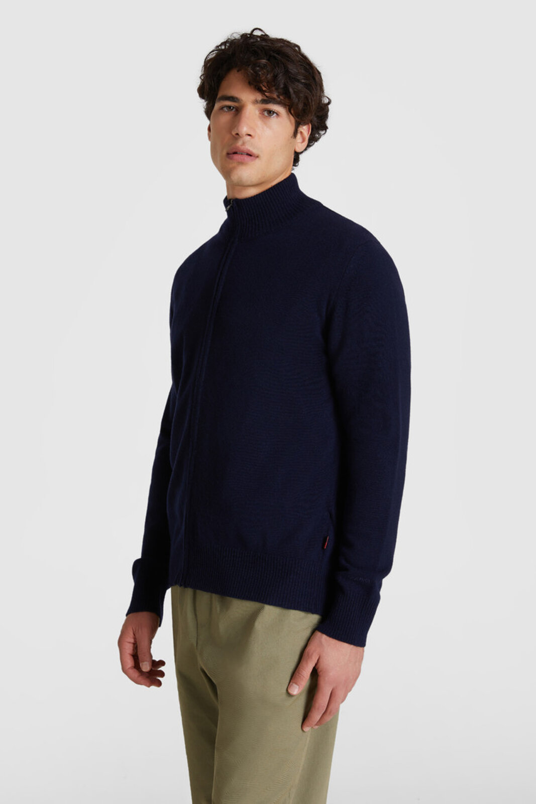 Full Zip Wool Sweater - Woolrich