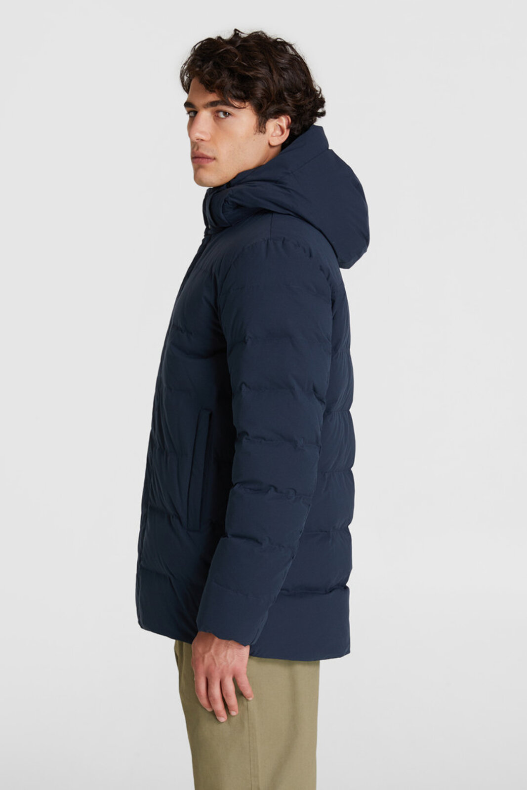 Sierra Stag Quilted Jacket Detachable Hood - Woolrich
