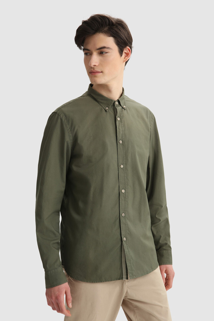 Camicia Oxford In Cotone Leggero Tinto In Capo - Woolrich