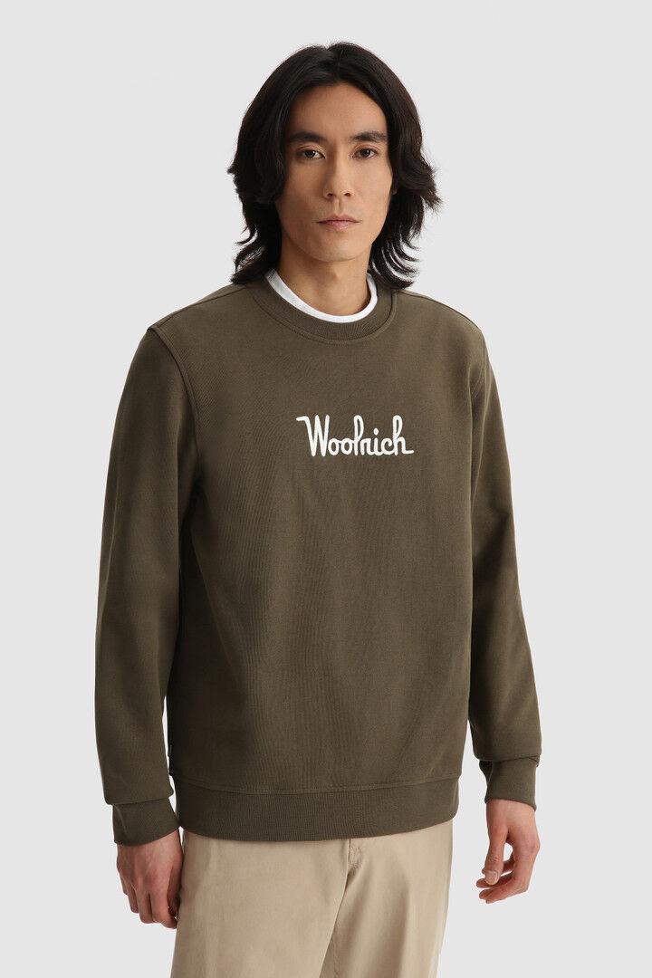 Felpa Girocollo Essential In Cotone Bio - Woolrich